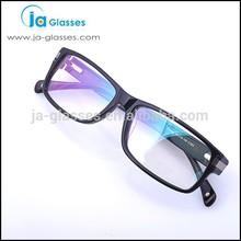 solido nero occhiali rettangolare