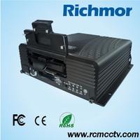 Richmor 3G G-Sensor Coach 4 CH GPS h.264 D1 HDD Police car/School Bus Mobile DVR