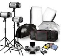 photographic studio utilising continuous flash lighting kits
