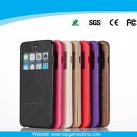 Flip Leather case cover for iphone 6 with View Window