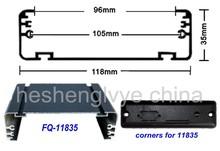 Hesheng aluminum profile manufacturer 6063 aluminum alloy profile for led sign frame FQ-11835