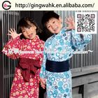 Japan Children Clothing Online bath robe shop kid spiderman costume linen Yukata home wear bath robe kid dress