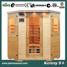 2014 KL-3SC new luxury good wood far infrared sauna room