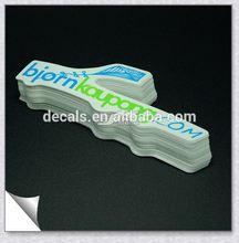 0.12mm free sample water proof validation sticker
