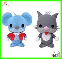 LE C1613 cute plush cat and mouse toy , felt toys