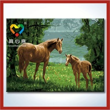 horse oil painting 60x80cm Zhuahi Truehearted botero