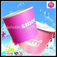 logo tasarımı çift pe kaplı tek kullanımlık kağıt yoğurt kabı