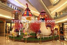 fancy Christmas scenes fashionable mushroom decoration for large shopping mall decoration