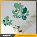 ملون أخضر زهرة diy إزالة الجدار ملصق ديكور المنزل