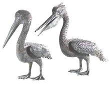 Pair of Bronze Pelican Sculptures BS057A