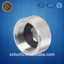 High quality precision aluminum 6061 cap wirh knurling