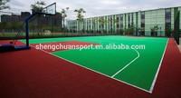 2014 Hot Sale modular tile outdoor PP interlocking plastic Basketball Flooring
