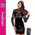 Hexin dessous heißer verkauf mode sexy engen leder-kostüm