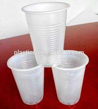 Toptan plastik çay bardak ve tabaklar toplu/7oz beyaz plastik bardak/7oz tek kullanımlık plastik bardaklar
