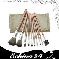 New Fashion Ladies Wooden Soft Pro 10pcs Makeup Brush Set