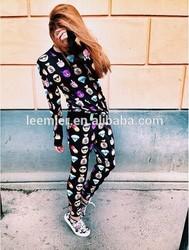 New hot sale fashionable emoji jogger pants from China