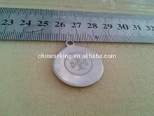 customized logo round disc charm initial letter logo metal charm necklace bracelet handbag brand logo charm