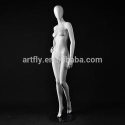 egg head matte white fiberglass female mannequin