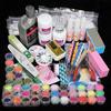 Yimart Professional 42 Acrylic Powder Liquid Brush Glitter Clipper Primer File Nail Art Tips Set Manicure Kit