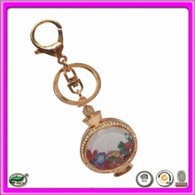 hot sell metal zin alloy crystal keychain