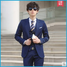 Men's wedding suits the groom dress han edition three-piece business and leisure travelers