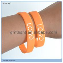 promoted fashion colorful printed customized logo reflective silicone