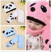 baby hat cute panda hat scarf set