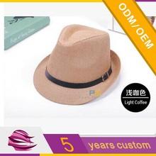 customized paper straw panama hat for promotion/custom fedora chapeau panama hats