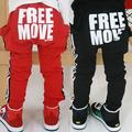 Wholesale2014 caída y ropa deinvierno nuevo alfabeto coreano niños niñas paño grueso y suave de los niños pantalones largos pantalones casuales kz-0393