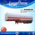 Tri eixo petroleiro reboque/50000 litros do tanque de combustível semi reboque/gasolina transporte reboque tanque