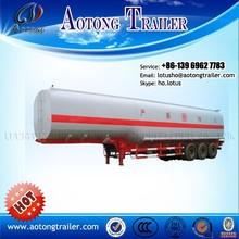 Tri axle oil tanker trailers/50000 liters fuel tank semi trailer/gasoline transport tank trailer