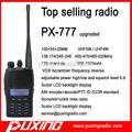 2014 caliente de la venta de dos vías de radio OEM PUXING profesional walkie talkie PX-777 radio VOX scrambler de frecuencia estacionarse en reversa 50 CTCSS + 104DCS