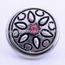 new design antique silver color metal button for bracelet wholesale