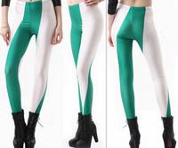 Wholesale Custom Fitness Hot Sex Women/Girl/Lady Korea Wetlook Flag Print Wet Look Lycra Spandex Pantyhose Tights Leggings Pants