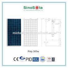 good price solar panel 300w solar panel for 20kw solar system price with TUV/PID/CEC/CQC/IEC/CE