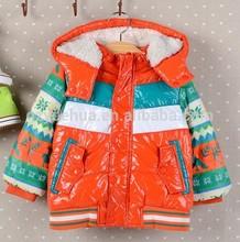 christmas gift for Children plus velvet thick warm cotton padded jacket children