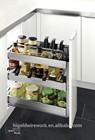 kitchen appliance stainless steel spice rack wine cabinet