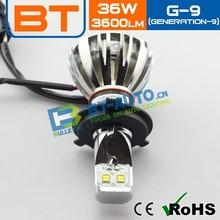 100% 2400LM Led Headlight,High Power Car Led Headlight,8~18V h4 Auto Head Light