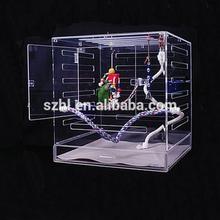 Cube acrylic bird cage with door