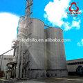Hopperinférieure en acier silo de stockage du grain/wheats/de soja, grain bin fournisseur feuilles
