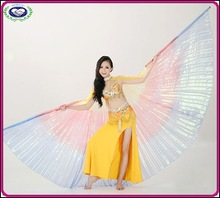Wholesale indian belly dance costumes colorful wings Indian style belly dance dress for sale