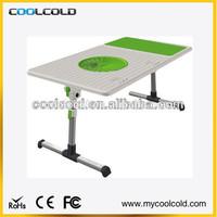 Adjustable laptop cooling desk with cooling fan standing, hot sale sofa adjustable laptop table
