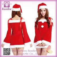 Unique design wholesale christmas sexy ladies red santa costume