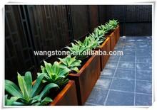 New product garden corten steel flower pot box sculpture home decor