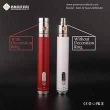 Carbon Fibre Printing One Week Usage EGO II Twist 2200mAh Battery big vapor e hookah cigarette