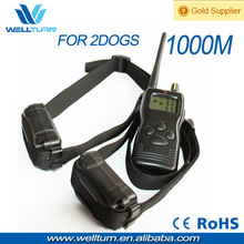1000 Meters Remote Range Multi-function Pet Training Collar For Two Dogs