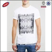 white classic crew neck t shirt mens organic cotton t shirt design