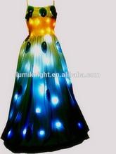 LED Peacock Dress/lighting up dress/led lighting stage performance dress