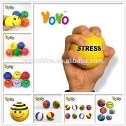 YOYO PU001 Customized Logo Promotion PU Rubber Stress Ball