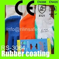 RILIN SAFETY full palm latex coated working gloves,Laminated Coated Industrial Working Gloves CE RN388 EN420
